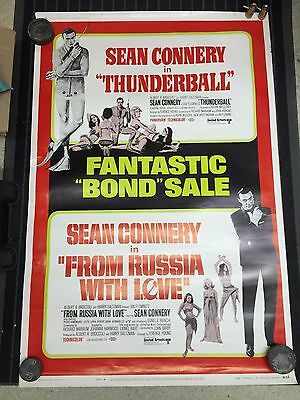 1968 Fantastic Bond Sale Combo Thunderball/From Russia With Love Connery 007