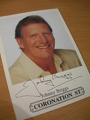 Collectable Johnny Briggs Coronation St Printed Signed Rare TV Cast Card
