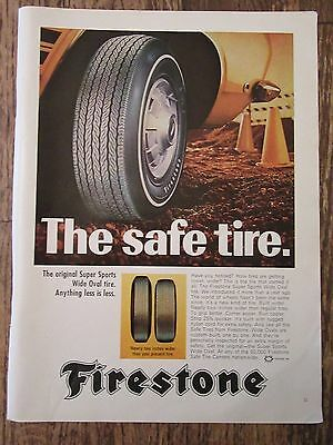 Original 1968 FIRESTONE TIRE Magazine Print Ad