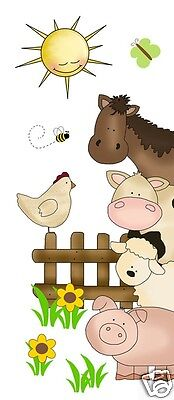 Barnyard Farm Animals Decal Wall Art Mural Stickers Baby Girl Nursery Door Decor