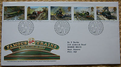 Famous Trains First Day Cover