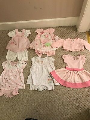 Baby Girls Summer Clothes Bundle Age 0-3 Months