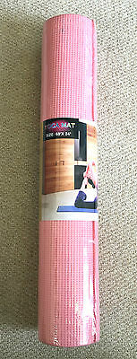 6mm Thick Pink Yoga Mats Gym Pilates Fitness Home Workout Non-Slip Physio