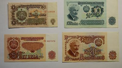 Selection of 4 Bulgarian Banknotes
