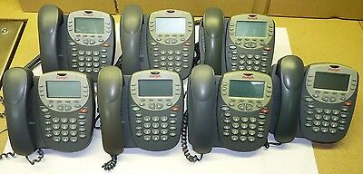 LOT of 7 - Avaya Digital VoIP Business Office Telephones 4610SW IP