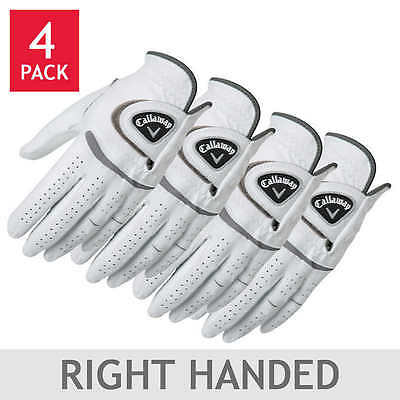 Callaway Men's Leather Golf Glove 4-pack: Right Handed PLAYER