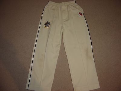 Gray Nicolls youth cricket trousers size S