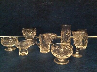 Royal Doulton Crystal Minitures  All Signed X9