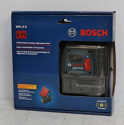 Bosch GPL 5 S  5-Point  Self-Leveling Alignment Laser