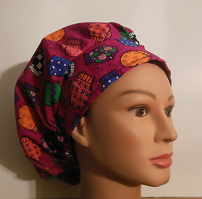 Colorful Multi Design Mittens - Surgical/Medical Scrub Hat - Bouffant Style