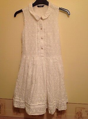 Girls white lace summer dress age 11-12 years worn once