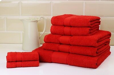 Neon Red Towel Sets Face Hand Bath Towel & Sheets Choice Of 3 Bale Sets