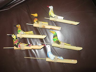 Bird whistle musical percussion instrument brand new large 18cm wooden bird