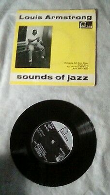 Louis Armstrong Sounds Of Jazz EP Fontana TFE17073  Picture Sleeve