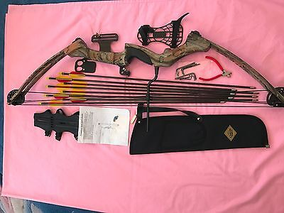 Compound bow with accessories and extras including case