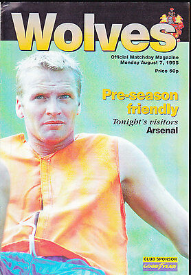 1995/96 WOLVERHAMPTON WANDERERS V ARSENAL 07-08-1995 Pre-Season Friendly