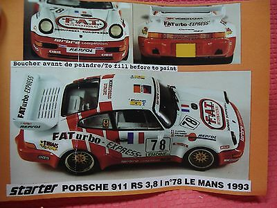 Porsche 911 Rs #78 Le Mans 93 Kit Starter 1/43, No Provence, Bbr, Mfh, Record