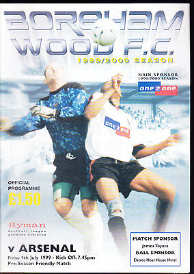 1999/2000 BOREHAM WOOD V ARSENAL 09-07-1999 Pre-Season Friendly