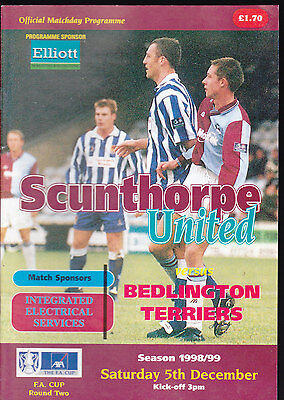 1998/99 SCUNTHORPE UNITED V BEDLINGTON TERRIERS 05-12-1998 FA Cup 2nd Round