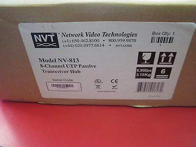 New Nvt Network Video Technologies Nv-813 8-Channel Utp Passive Transceiver Hub