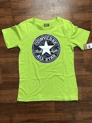 Boys Neon Green CONVERSE ALL STAR Chuck Taylor T Shirt   Size Large 14-16    NWT