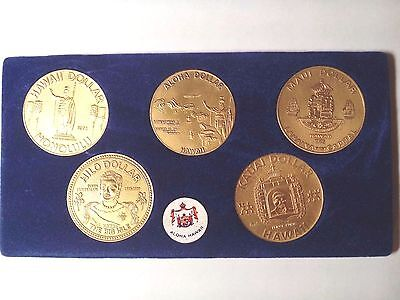 Coins Of Hawaii    5 Coins Set