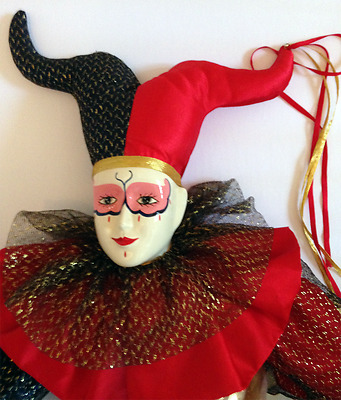 HARLEQUIN JESTER DOLL - Limited Edition - BRINN's Musical Collection