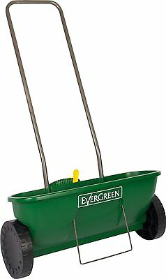 EverGreen Easy Spreader Plus + Garden Lawn Seed Outdoor Fertilizer Spreader