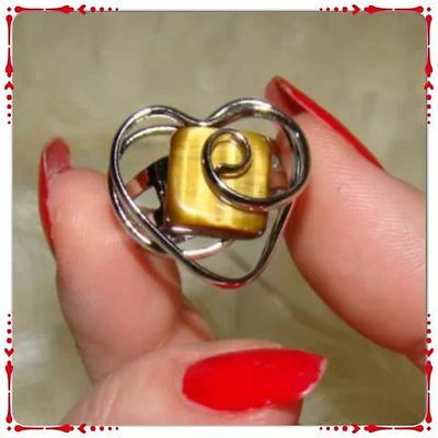 SALE! Large Silver Heart shaped Vintage Ring