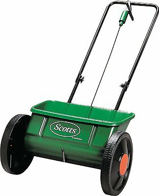 EverGreen Scotts Drop Spreader Garden Lawn Seed Outdoor Fertilizer Spreader 45cm