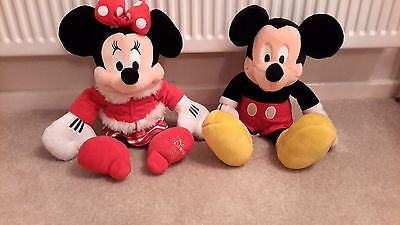 Minnie and Mickey Mouse soft plush toys