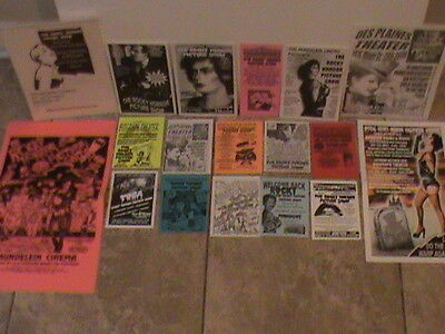 ROCKY HORROR PICTURE SHOW Flyer/Poster PROGRAMS VINTAGE LOT CHICAGO THEATERS