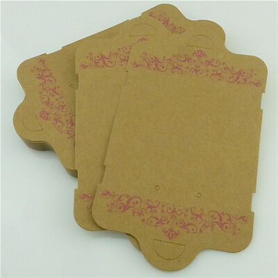 HY-A8378 35pcs 134mm Brown Paper For Collar Necklace Jewelry Show Display Card