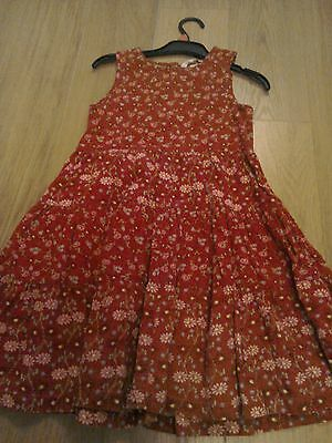 H&M red corded winter dress. Age 5-6