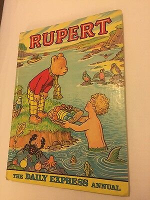 Rupert Bear Annual 1975 Hardback Price Clipped