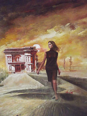 Gothic Romance Paperback Evil Ever After Cover Painting by Louis Marchetti