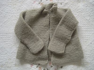 1920's LITTLE GIRL'S WOOL HOMEMADE KNIT SWEATER- EXCELLENT