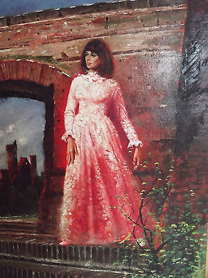 Gothic Romance Paperback Dark Interval Cover Painting by Louis Marchetti 1974