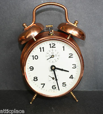 VINTAGE PETER DOUBLE BELL ALLARM CLOCK Nr. 1008 MADE IN GERMANY