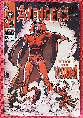 AVENGERS 57 Marvel Silver Age 1968 First appearance of Vision