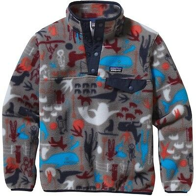 "NEW $79 PATAGONIA BOYS Lightweight ""SYNCHILLA"" SNAP-T FLEECE PULLOVER"