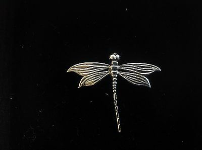 sterling Silver Dragonfly Bug Insect brooch pin Art Deco Nouveau design with box