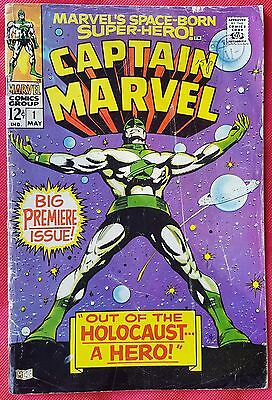 CAPTAIN MARVEL 1 Marvel Silver Age 1968 Big Premiere Issue