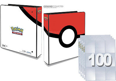 1,800 Card Cap. 9-Pocket x 100 Pages Pokemon Album 3-Ring Storage Binder Folder