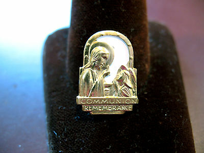 CHRISTIAN Medal Holy Communion Rememberance Girl Scout Week EUC Combine Shp