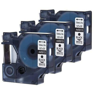 3PK Compatible for DYMO D1 Label Tape 45013 (S0720530) Label Manager Label Point