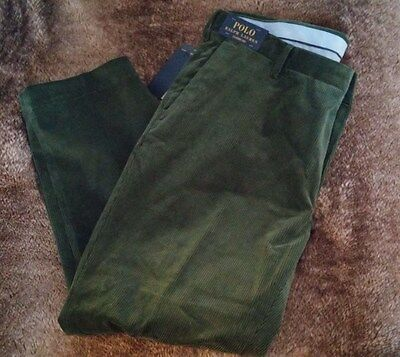 Ralph Lauren NEW Polo Corduroys Forest Green Classic Fit NWT
