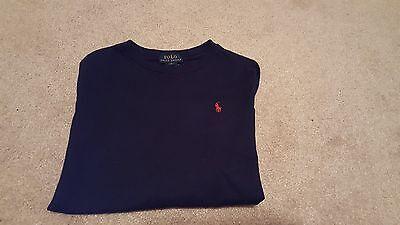 NEW Boys RALPH LAUREN POLO brand l/s t shirt size 5 navy blue