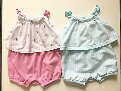 Baby Gap Girls 3-6 Month Lot Of Two Rompers