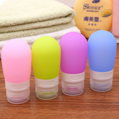 Cute Round Silicone Travel Bottles Set Shampoo Lotion Container Candy Color 1PCS